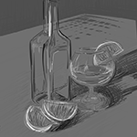 Transparent Object Study: Fountain Pen